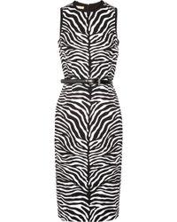 Michael Kors Zebra-print Crepe Dress - Lyst
