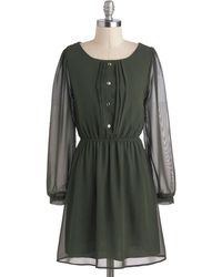 ModCloth Olive Elegance Dress - Lyst
