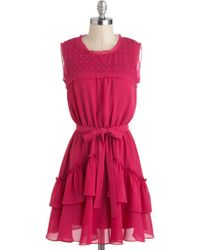ModCloth Raspberry Flummery Dress - Lyst