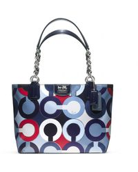Coach Madison Graphic Op Art Metallic Tote - Lyst