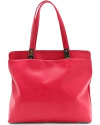 Maison Margiela Leather Tote Bag red - Lyst