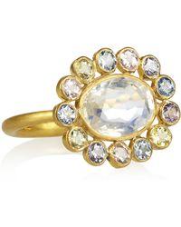 Marie-hélène De Taillac - Marguerite 22karat Gold Sapphire and Moonstone Ring - Lyst