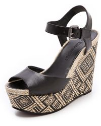Vera Wang - Peep Toe Platform Wedge Sandals Malina - Lyst