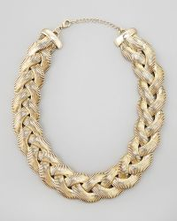 Cara Accessories Braided Chain Necklace - Lyst