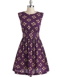ModCloth Too Much Fun Dress in Plum Petunias - Lyst