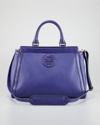 Tory Burch Hannah Eastwest Satchel Bag Iris - Lyst