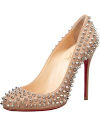 Christian Louboutin Fifi Spikes Red Sole Pump Corde - Lyst