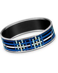Hermès Enamel Bracelet silver - Lyst