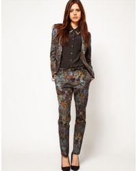 ASOS Collection Premium Floral Printed Trouser multicolor - Lyst
