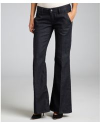 Diesel Dark Blue Stretch Denim Kees Flared Trouser Jeans - Lyst