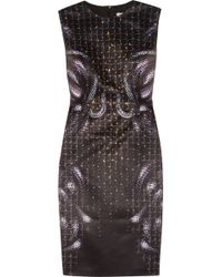 Hakaan Paula Snakeprint Satin Dress - Lyst