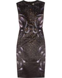 Hakaan Paula Snakeprint Satin Dress - Lyst