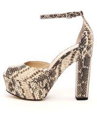 Kors by Michael Kors Hannon Snake-skin Ankle Strap Platform Sandal - Lyst