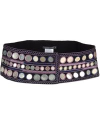 Alexander McQueen Belt purple - Lyst
