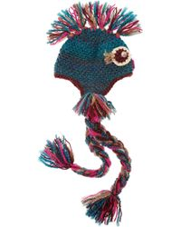 Anna Sui - Embellished Knitted Owl Hat - Lyst