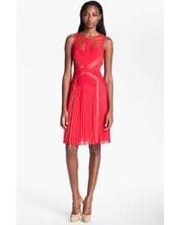 BCBGMAXAZRIA Lace Aline Dress - Lyst