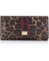 Dolce & Gabbana Leopard Print Long Wallet - Lyst