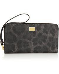 Dolce & Gabbana Leopard Print Ziparound Wallet - Lyst