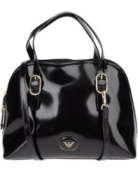 Emporio Armani Medium Leather Bag - Lyst