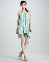 Jay Godfrey Printed Halter Dress - Lyst