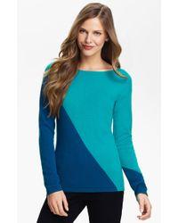 Lauren Hansen Colorblock Cashmere Sweater - Lyst