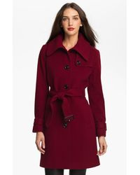 London Fog Envelope Collar Wool Blend Coat Online Exclusive - Lyst