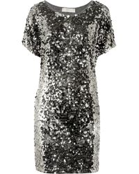 Michael by Michael Kors Paillette Embellished Jersey Dress - Lyst