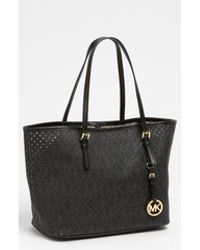 Michael by Michael Kors Signature Small Perforated Tote - Lyst