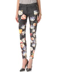 Mother The Looker Print Skinny Jeans - Lyst
