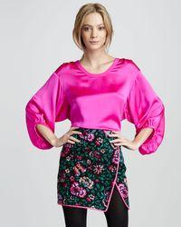 Nanette Lepore Blossom Print Wrap Skirt - Lyst