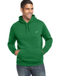 Nike Classic Pullover Fleece Hoodie green - Lyst