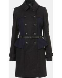 Topshop Utilitarian Coat gray - Lyst