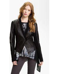 Trouvé Stealth Leather Jacket - Lyst
