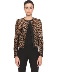 A.L.C. Leopard Fur Savile Jacket in Natural - Lyst