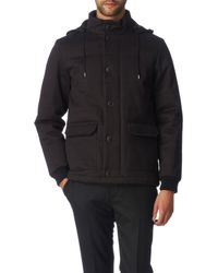 A.P.C. Padded Hooded Jacket - Lyst