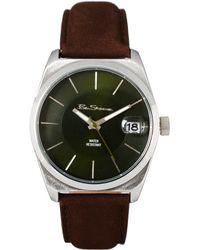 Ben Sherman Black Dial Leather Strap Watch - Lyst
