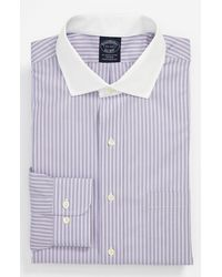 Brooks Brothers Regular Fit Noniron Dress Shirt - Lyst