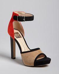 Dolce Vita Dv Peep Toe Platform Ankle Sandals Pica High Heel - Lyst
