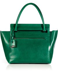 Jil Sander Emerald Leather New Malavoglia Bag - Lyst