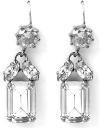 Juicy Couture - Crystal Three Linear Drop Earrings - Lyst