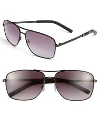 Marc By Marc Jacobs 59Mm Aviator Sunglasses - Shiny Black - Lyst