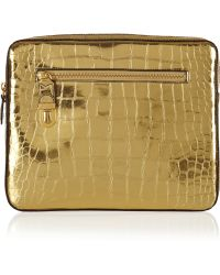 Marc Jacobs - Cosmic Croceffect Metallic Leather Ipad Case - Lyst