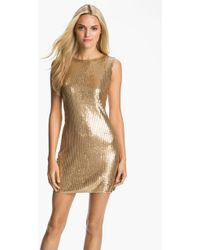Michael by Michael Kors Sleeveless Sequin Dress - Lyst
