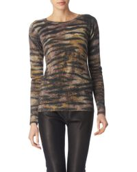 Mulberry Metallic Tigerprint Jumper - Lyst