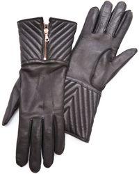 Rag & Bone - Chevron Quilted Zip Glove - Lyst