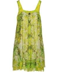Roberto Cavalli Short Dress green - Lyst