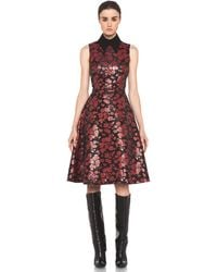 Rodarte Embroidered Tulle Dress in Red Black Floral - Lyst