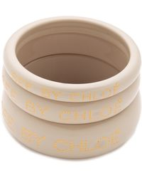 See By Chloé - Logo Bangles - Lyst