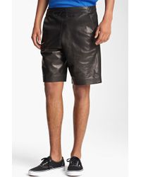 T By Alexander Wang Leather Shorts - Lyst