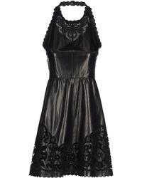 Valentino Short Dress black - Lyst